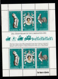 New Hebrides Sc 258 1978 25th Anniversary Coronation of QE II stamp sht mint N