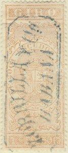 DEPENDENCIAS ESPAÑOLAS - 1868 Sello Fiscal (GIRO) 1,50 Escudo - usado