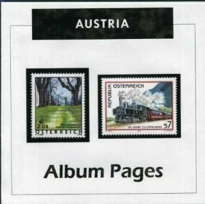 Austria - CD-Rom Stamp Album 1850-2016 Color Illustrated Album Pages