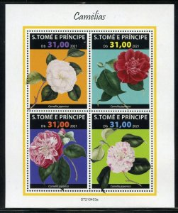 SAO TOME 2021 ROSES SHEET MINT NEVER HINGED