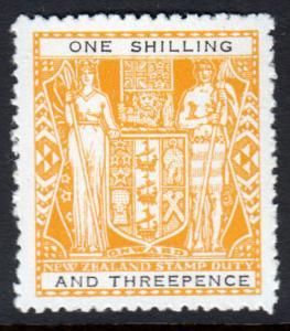 New Zealand KGVI 1940 1s3d 1/3 Yellow Black SGF192 Mint Never Hinged MNH UMM