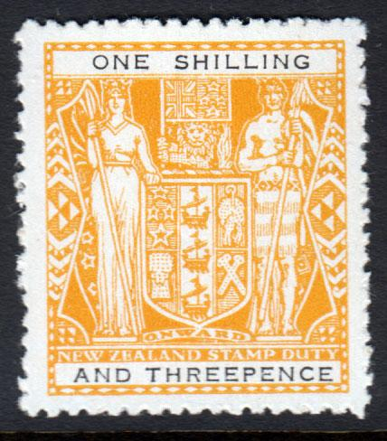New Zealand KGVI 1940 1s3d 1/3 Yellow Black SGF192 Mint Never Hinged MNH UMM