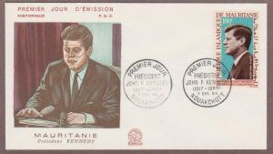 Mauritania Air Mail John F Kennedy # C40 , JFK FDC - I Combine S/H