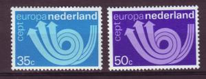 J13455 JLstamps 1973 netherlands set mh #504-5 europa