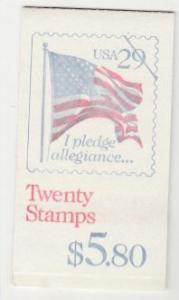 U.S. Scott #2593a BK196 Flag Stamp - Mint NH Booklet