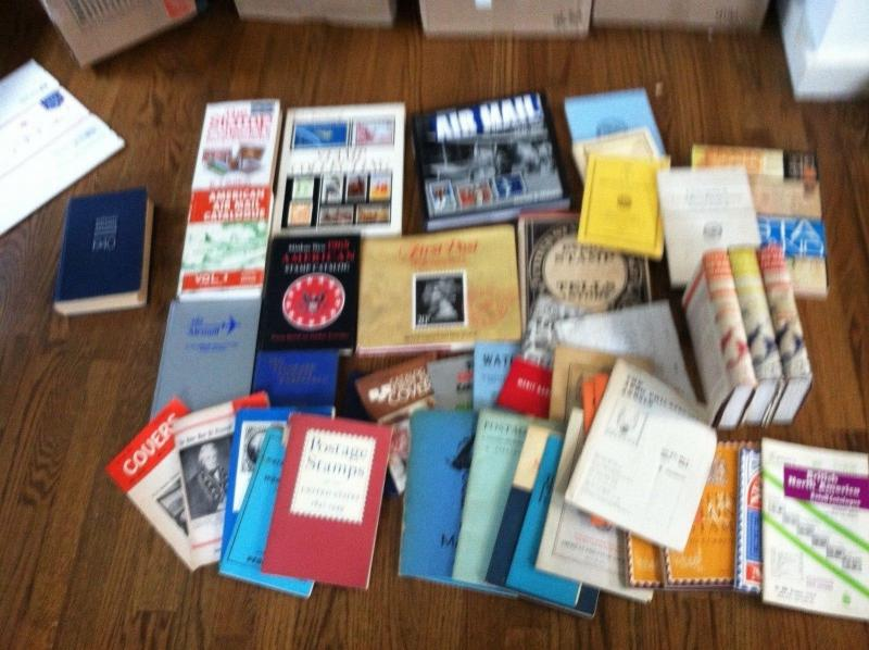 BOOKS used PHILATELIC LIBRARY old time with BEP PAMPHLETS  to COLOR TABLE BOOKS