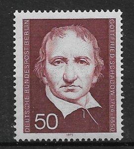 1975 Berlin 9N353 Scultor Johann Gottfried Schadow MNH