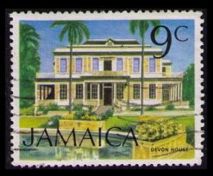 JAMAICA 1972 9c #350 DEVON HOUSE FINE USED STAMP (V668)