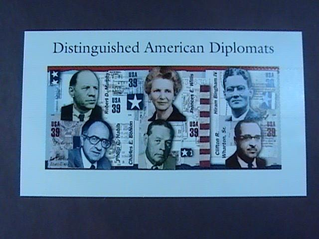 U.S.# 4076(A - F)-MINT/NH-- PANE OF 6--DISTINGUISHED AMERICAN DIPLOMATS---2005