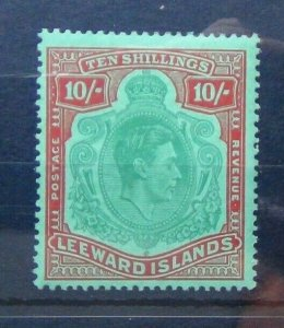 Leeward Islands 1938 - 1951 10s VLMM Fine SG113