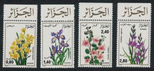 Algeria Flowers 4v Top Margins SG#941-944
