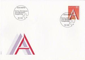 SW64) Switzerland 1993 Defintive Issue FDC.