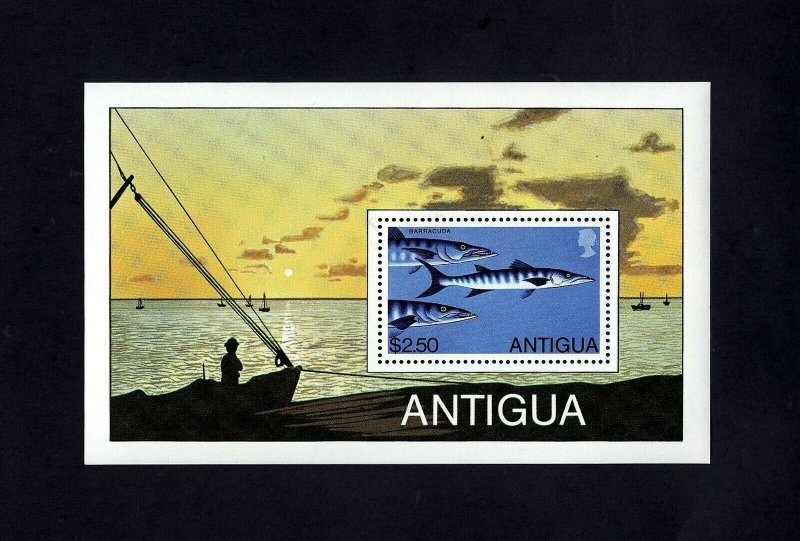 Antigua MNH S/S 546 Barracuda Fishing 1979