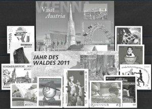 2005+ Austria Europa-Cept, 13 different Blackprints VF/MNH! LOOK!