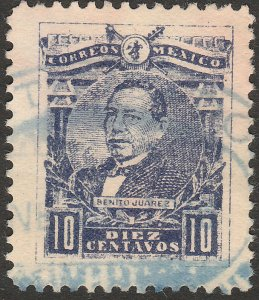 MEXICO 511, 10¢ BENITO JUAREZ, USED. F-VF. (1221)