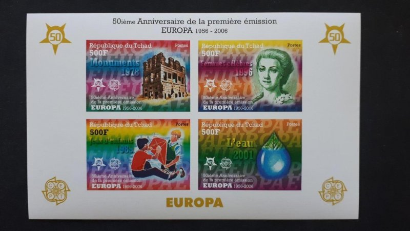 50th anniversary of EUROPA stamps - Chad 1x Bl imperf ** MNH
