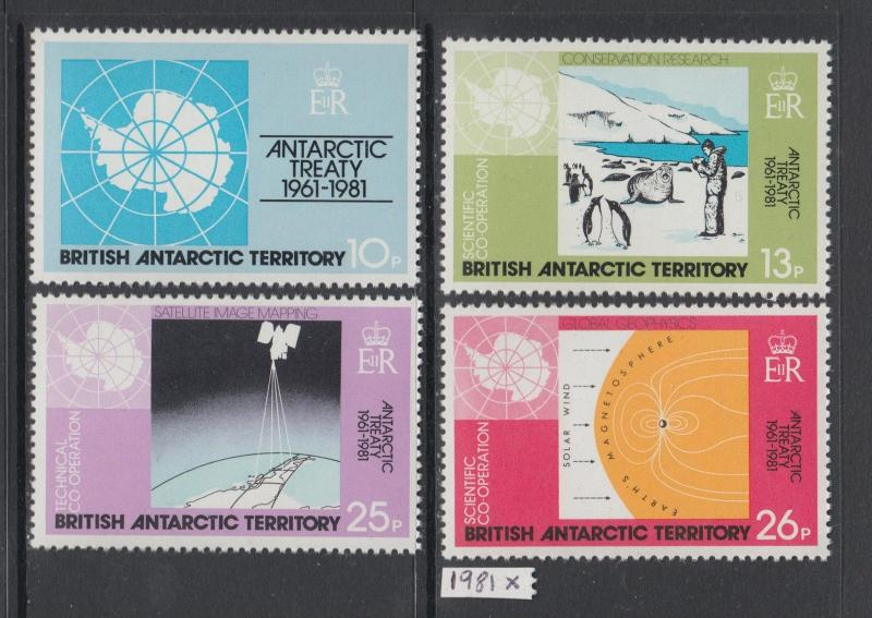 XG-AK487 BRITISH ANTARCTIC TERRITORY - Science, 1981 Cooperation, Treaty MNH Set