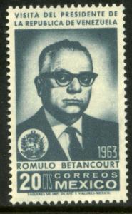 MEXICO 932 Visit of President R. Betancourt of Venezuela MINT, NH. F-VF.