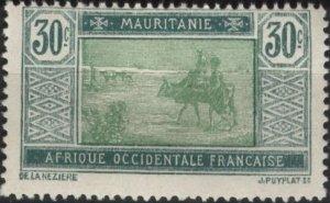 Mauritania 33 (mhr) 30c crossing the desert, blue grn & yel grn (1928)