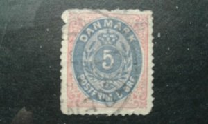 Denmark #27 used rough perfs e201.6191