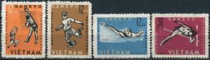 Vietnam. 1963. GANEFO sports games, Jakarta (MNH OG) Set of 4 stamps