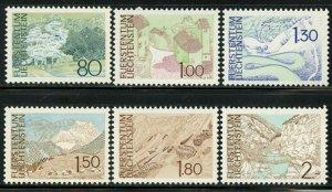 Liechtenstein 1972 Landscapes set Sc# 513-27 NH