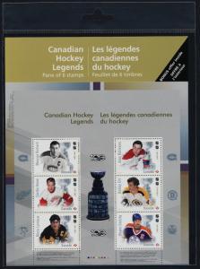 Canada 3026 MNH NHL Canadian Hockey Legends, Ice Hockey