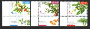 Israel. 2017. 2550-52. Aromatic plants flora. MNH.