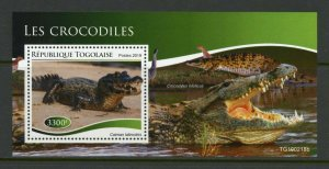 TOGO 2019 CROCODILES SOUVENIR SHEET MINT NEVER HINGED