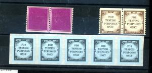 U.S. Test or Dummy Stamps F-VF