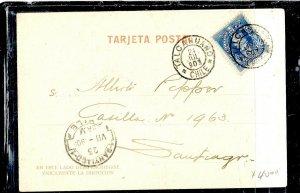 CHILE  (P3108B) 1903  5C COLUMBUS   ON PPC  TALCAHUANO TO SANTIAGO