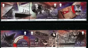Isle of Man --2012-   SINKING OF THE TITANIC   MNH  Set   # 1491-1492