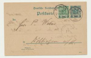 GERMAN EAST AFRICA 1894 TANGA TO DOTTINGGEN, 3p CARD 3p ADDED (SEE BELOW)