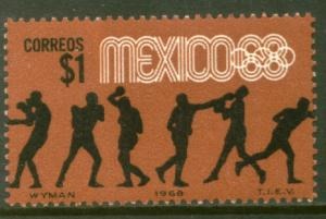 MEXICO 994, $1P Boxing 4th Pre-Olympic Set MINT, NH. VF.