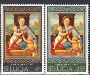 St. Lucia #227-228 MNH