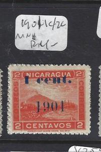 NICARAGUA (P1509B)  1901  1C/2C   MOG