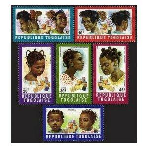 Togo 722-725,C126-C127,MNH.Michel 780-785. Various hair styles,1970.