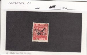 J25778  jlstamps 1928  iceland mnh #c1 ovpt checked f/condition