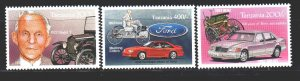 Tanzania. 1994. 1753-55 from the series. Automotive History. MNH.