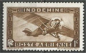 INDO-CHINA, 1933, MNH 1c, Airplane Scott C1