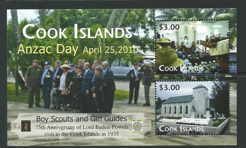 COOK ISLANDS SGMS1570 2010 ANZAC DAY MNH