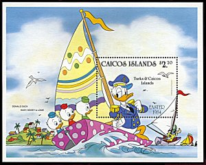 Caicos Islands 46, MNH, Disney Easter 1984 souvenir sheet