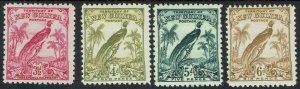 NEW GUINEA 1932 UNDATED BIRD 3½D - 6D