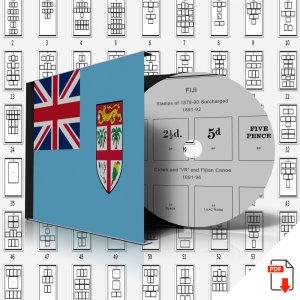 FIJI STAMP ALBUM PAGES 1870-2011 (167 PDF digital pages)