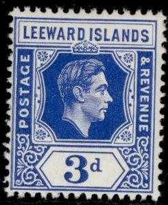 LEEWARD ISLANDS GVI SG108, 3d bright blue, NH MINT.