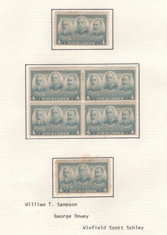 US 1937 Navy 4c Stamp Block of 4 & 2 Single Stamps Scott 793 MH