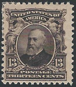 Scott #308, Unused, Original Gum, 1901-8 Regular Issues
