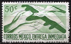 Mexico; 1962: Sc. # E18; O/Used Single Stamp