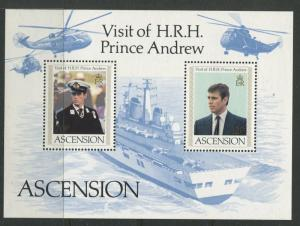 Ascension - Scott 349 - General Issue -1984 - MNH - Souvenir Sheet of 2 Stamps