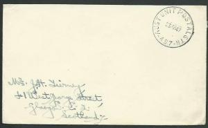 AUSTRALIA FORCES IN JAPAN 1947 cover AUST UNIT POSTAL STN / 497 cds........58888